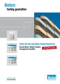 Broschüre: Beton farbig gestalten – Herbol Beton/Boden-System