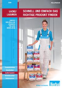 Broschüre: Lacke und Lasuren - Neues Design